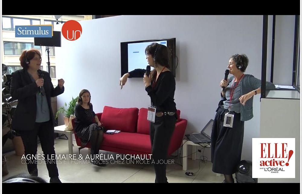 Agnès Lemaire et Aurélia Puchault au Forum ELLE Active