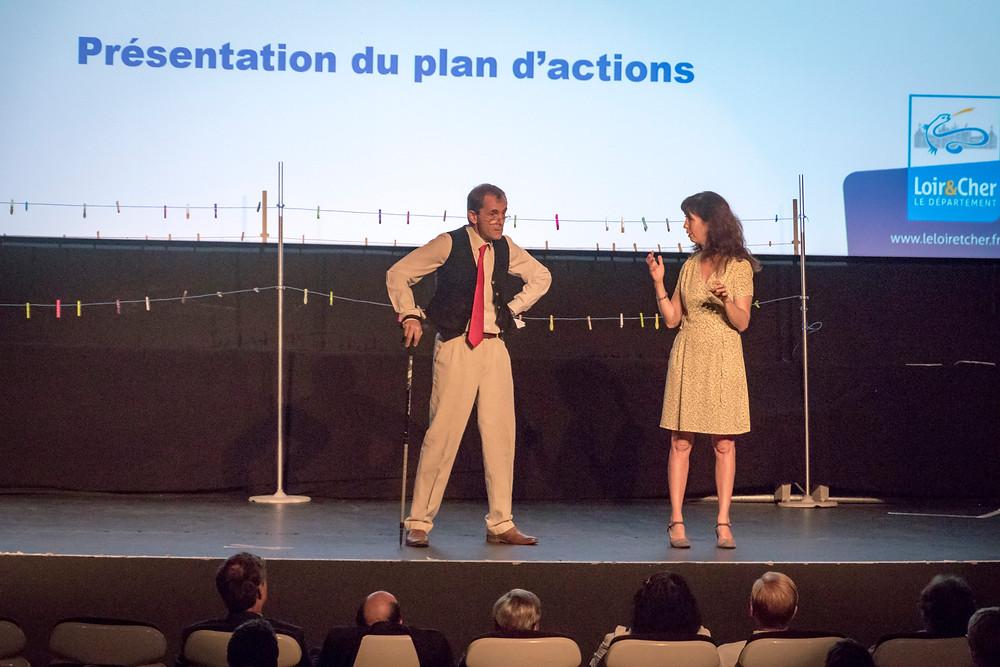 Qualidep Loir et Cher Philippe et Aurélia sur scène