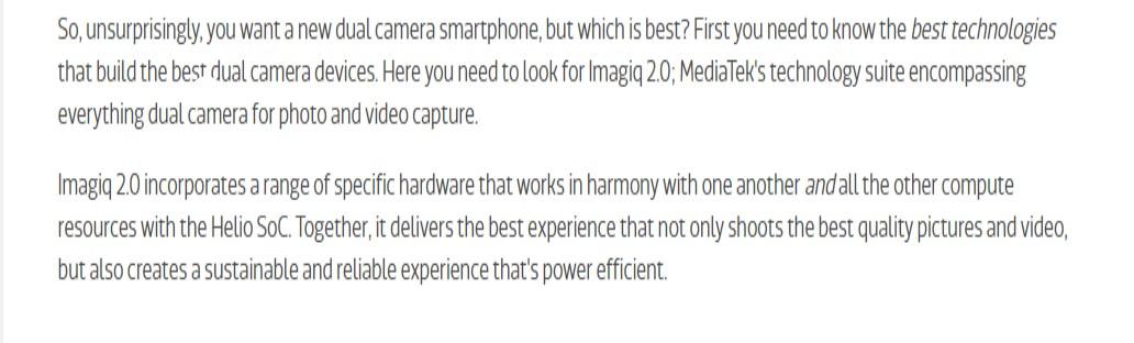 MediaTek DualCamera 6