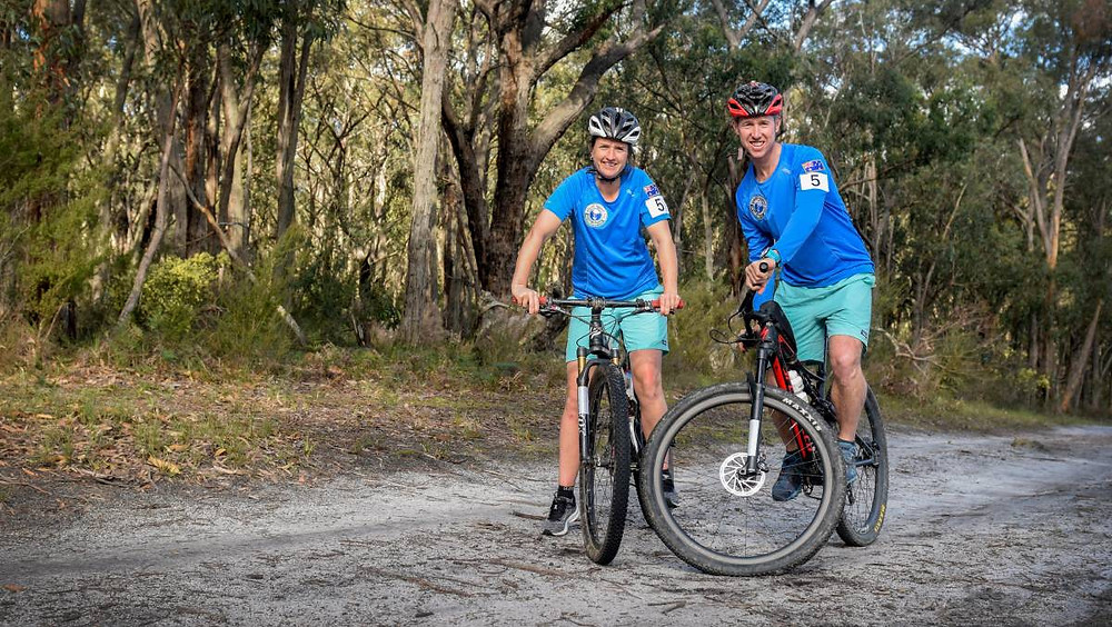 Rob and Kathryn Preston training for the World's Toughest Race - Ecochallenge Fiji on Specialized Epic Mountain bike