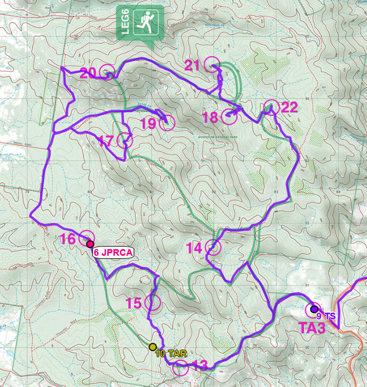 Team Thought Sports GPS route for Hells Bells Leg 6 rogaine