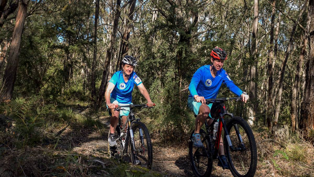 Kathryn and Rob Preston said Gippsland is a fantastic training ground for The World's Toughest Race. photo by Tessa Randello