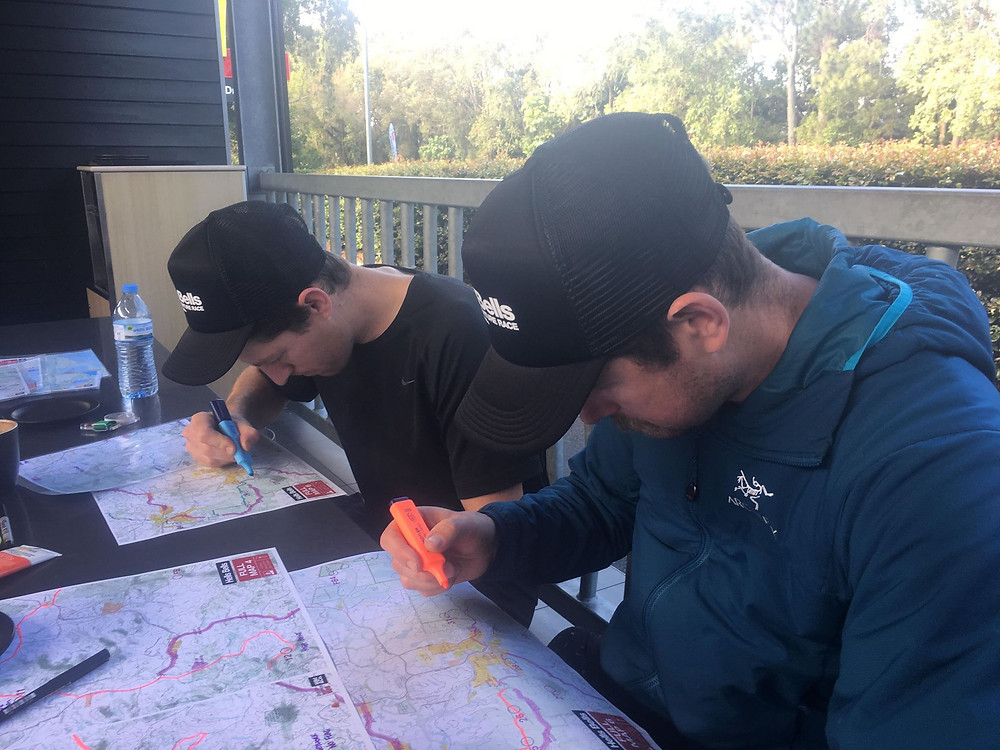 Tim Boote and Peter Preston marking the course for Hells Bells Adventure Race 2018
