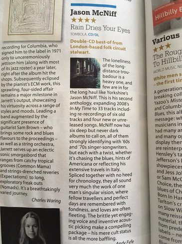 Great Mojo reviews of 'Rain Dries Your Eyes' 4 STARS