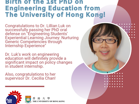 Birth of the 1st PhD on Engineering Education from The University of Hong Kong