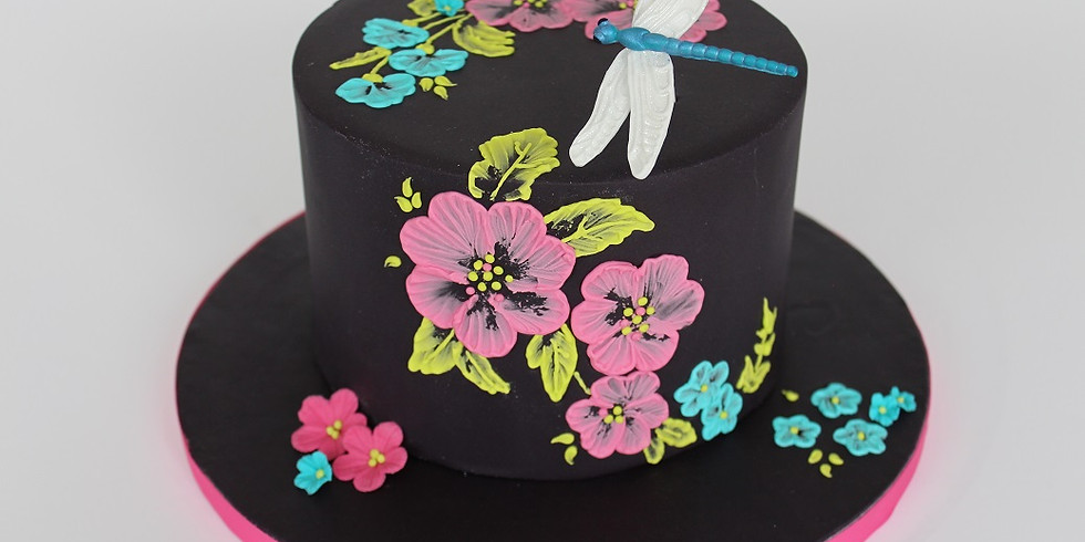 Dragonfly Brush Embroidery Cake £99