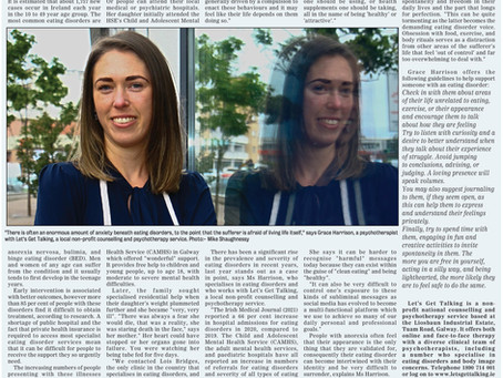 Living with an Eating Disorder Part 1- Galway Advertiser (June 2021)