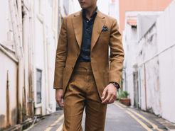 The Tobacco Wool Silk Linen Suit