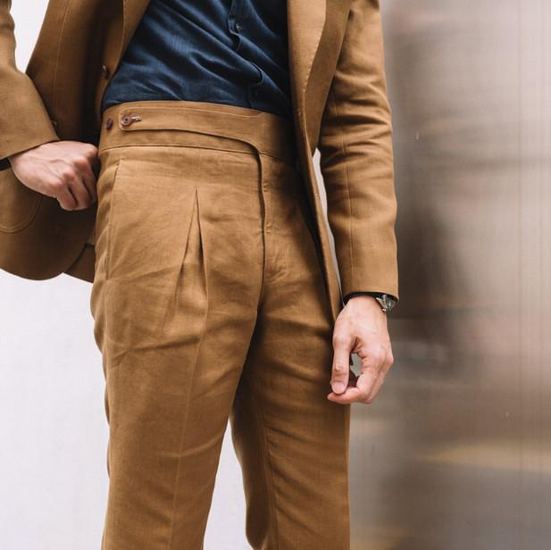 Tobacco Linen Suit