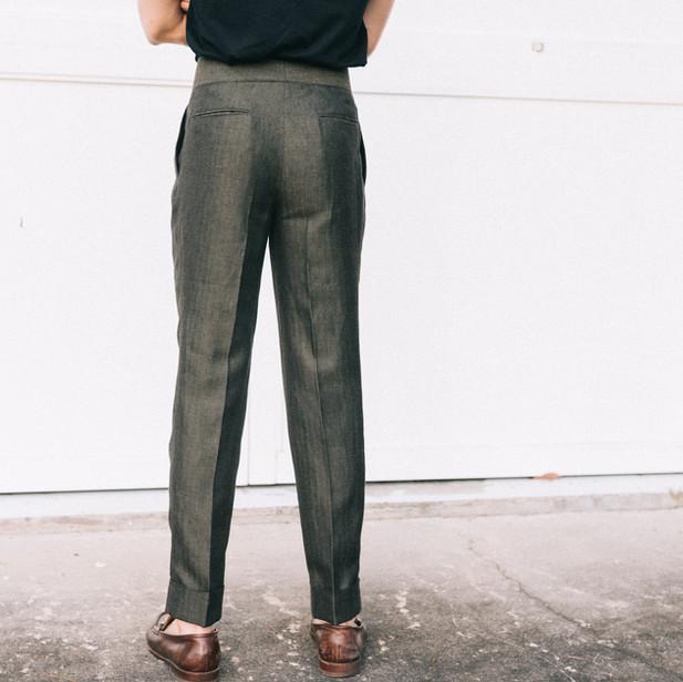 Green Linen Trousers