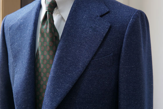 Notch Lapel on a Navy Sports Jacket