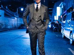 Three Piece Pin Stripe Suit
