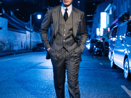 Three Piece Pin Stripe Suit