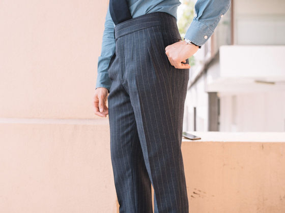 Semi One Piece Pin Stripe Trousers