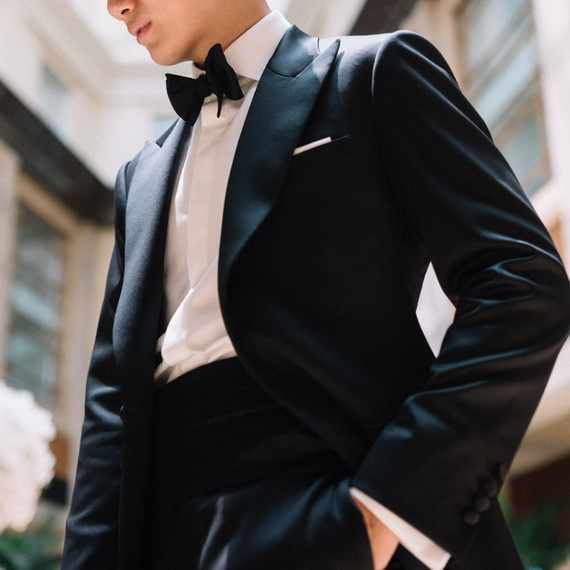 Black Tuxedo in Pure Worsted Wool