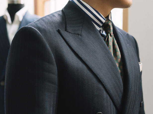 Charcoal Double Breasted Suit