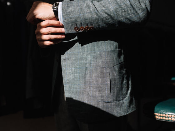 Pleated Suit Pocket