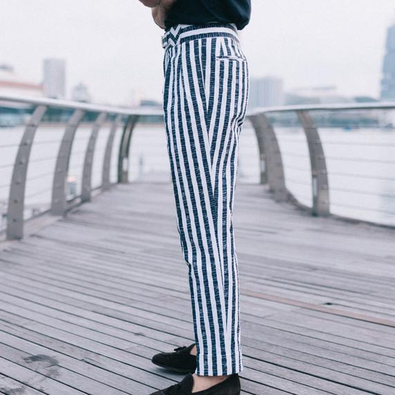 Stripe Linen Trousers