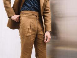 Tobacco V Pleated Trousers