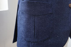 Common Suits Signature Pleated Jacket Pocket