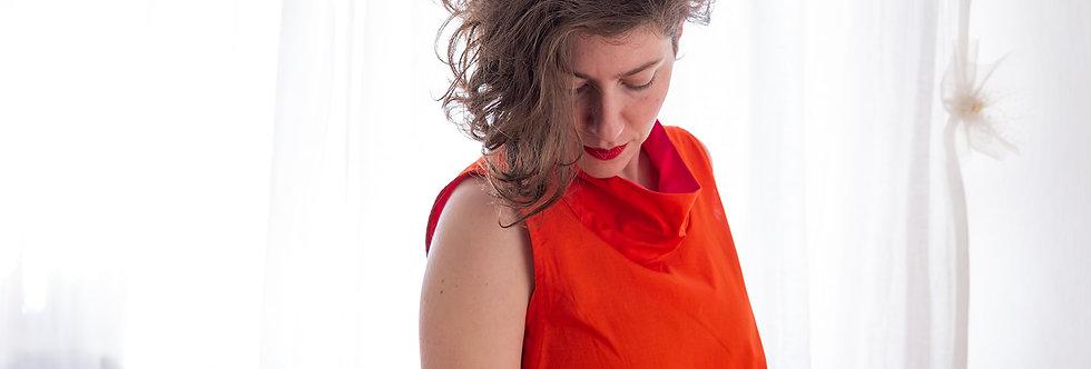 חולצת ליאת- אדום טנג'רין