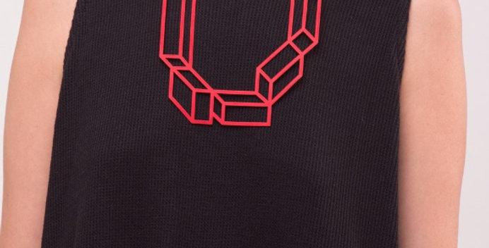 שרשרת 5 קוביות אדום
