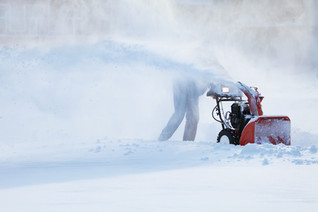 Angel with a snowblower