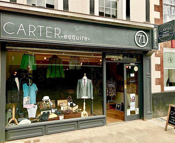 Carter Esquire Shop in Bromsgrove Town Centre