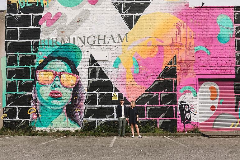 Birmingham Graffitti Art Wedding Couples by Kate Jackson Photography