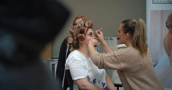 Helena Shakespeare MUA doing a trial at our Wedding Market