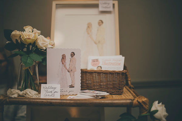 Stacy Hammond Art Wedding Stationery taken by Dearest Love Photography at our Wedding Market