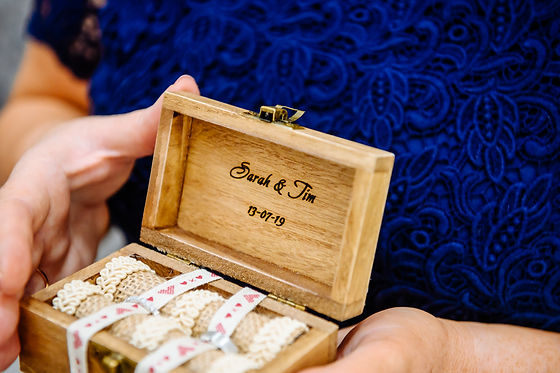 Tim and Sarah Alternative Wedding Ring Box