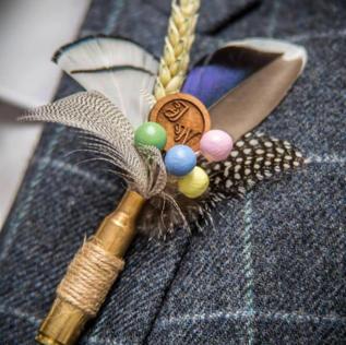 Bespoke boho Style buttonhole