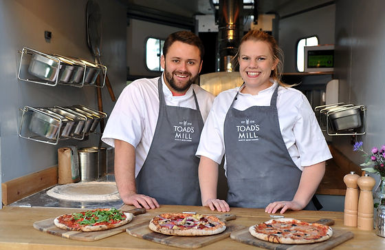 Toads Mill Pizza Owners in Pizza Van