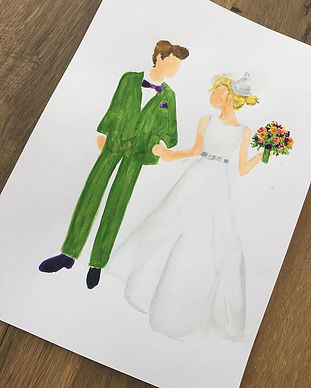 Charlotte Arntzen designs bespoke couple portrait
