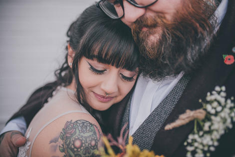 True Love wedding couple with tattoos