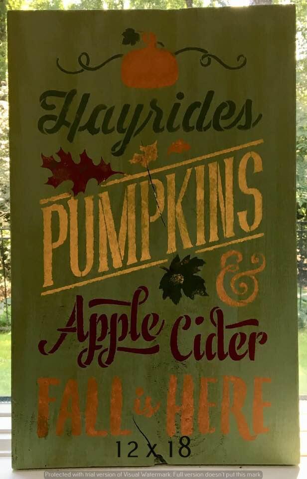 Hayrides & Pumpkins 12 x 18 (1)