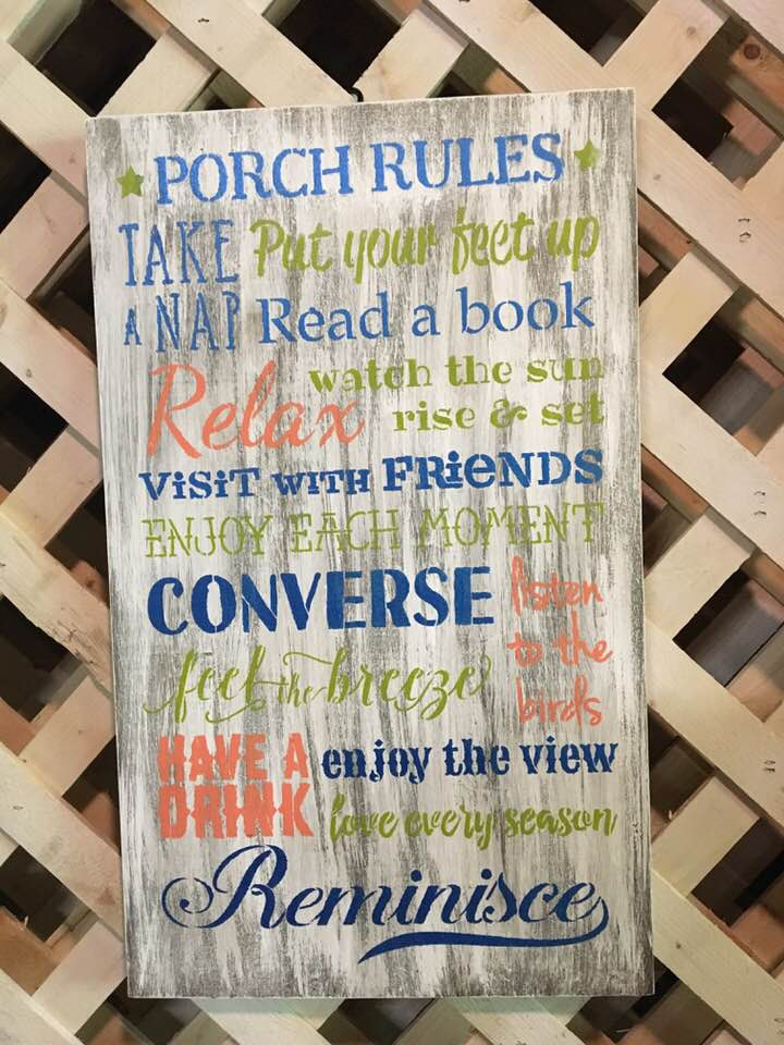 Porch Rules 2