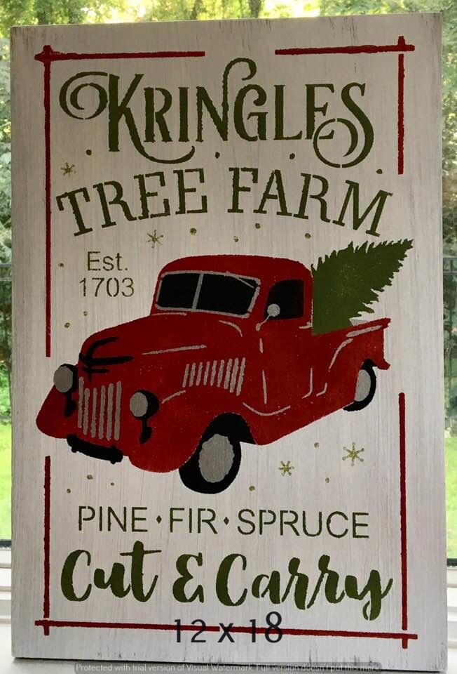 Kringles Tree Farm 12 x 18 (1)