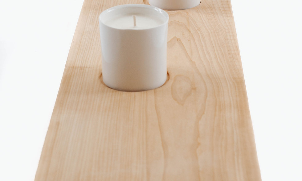 Candle Board | 3 Curvy White Candles