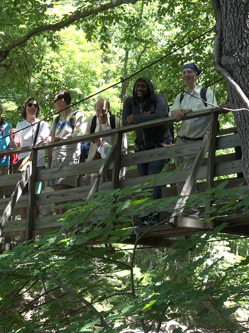 Group on Suspension bridge