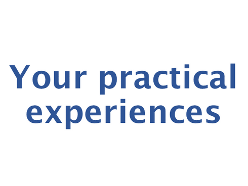 The call: present your project or example of good practise