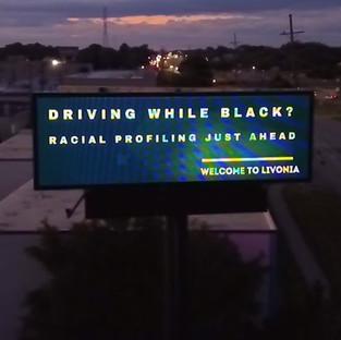 Driving while Black Billboard