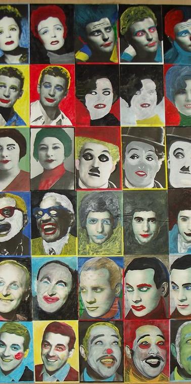 Fresque portraits d'idoles