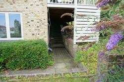 Gammel kælderindgang