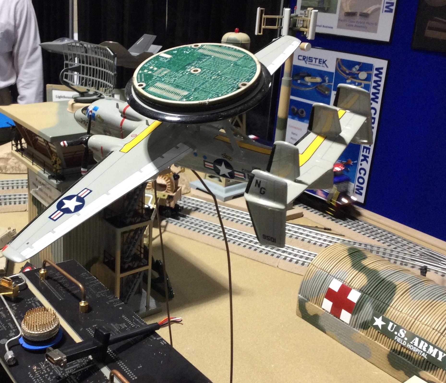 Hawkeye E-2D: Circular PCB Raydome