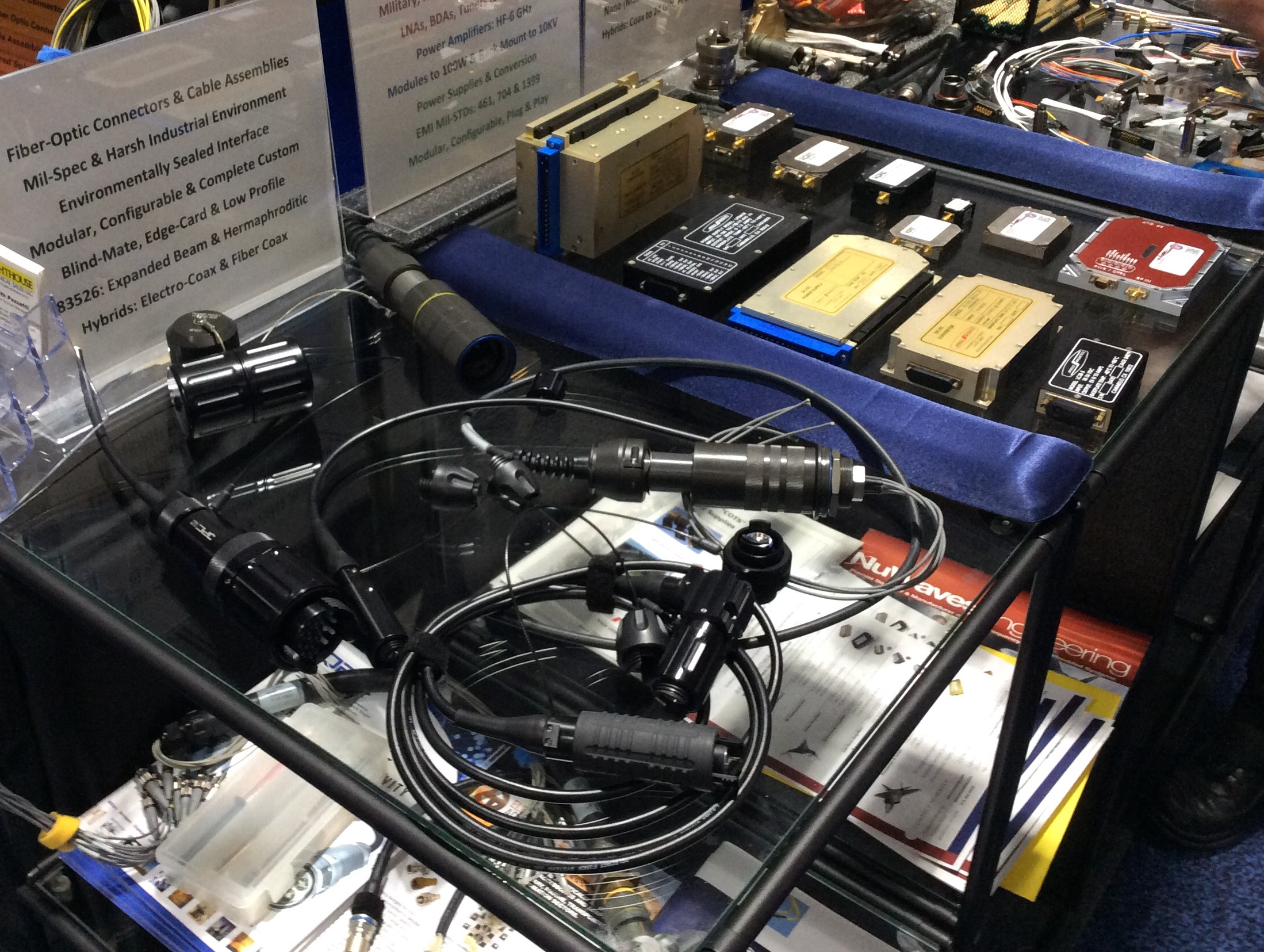 Trade Shows Radar Utilizing A Fiber Optic On Wiring In House Interconnect Products Rf Power Amps Ac Dc Supplies