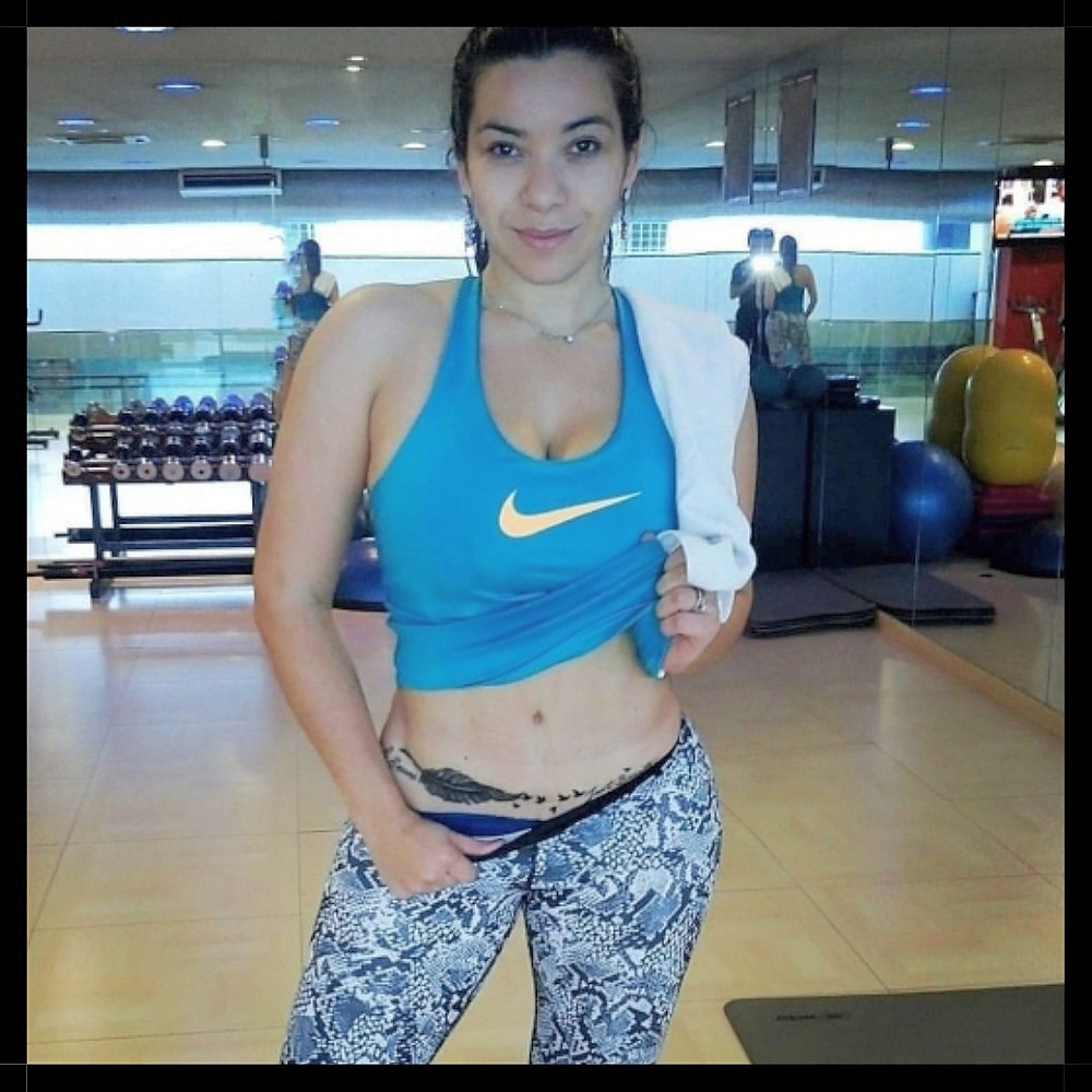 Keilley at gym, myquantumapp