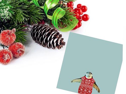 Chinstrap Penguin Holiday Card