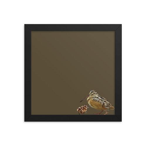 American Woodcock - Framed Bird Art Print